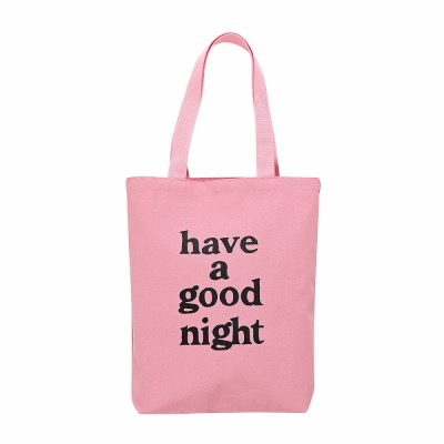 [Haveagoodtime] have a good night Tote Bag_PINK