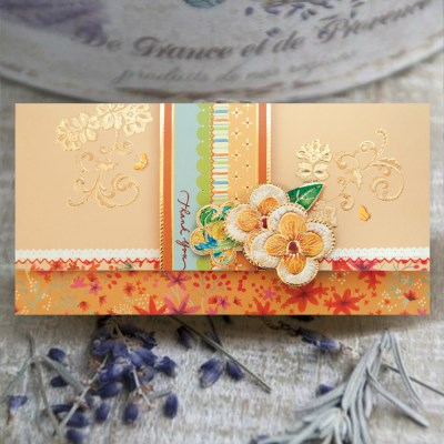 자수 꽃 용돈봉투 FB1013-1