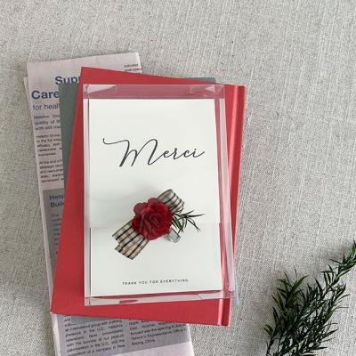 메르시 카네이션 브로치 카드