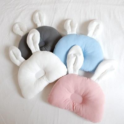 신생아 무지 4color 토끼 짱구베개
