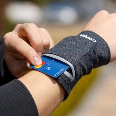 카라라 여행용 운동용 카드수납 손목지갑(핸드폰 방수팩 포함)