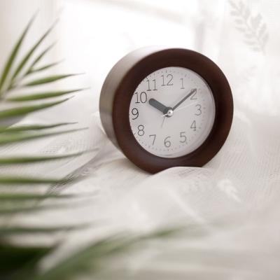 [Banana]바닐라카카오 비치우드 무소음 알람시계 탁상시계
