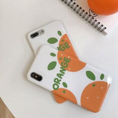 아이폰7/8/8+/xs/xr/max 오렌지 TPU케이스_(1260419)
