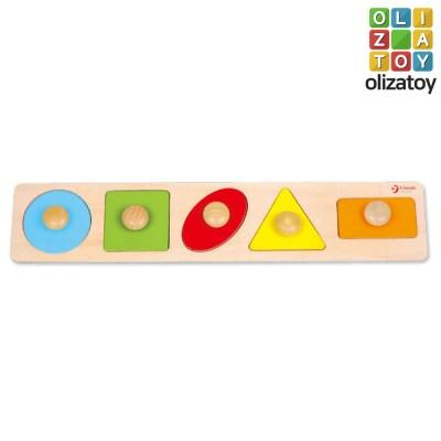 원목 나무 도형 퍼즐 롱지오 메트리 퍼즐 유아 장난감 교구