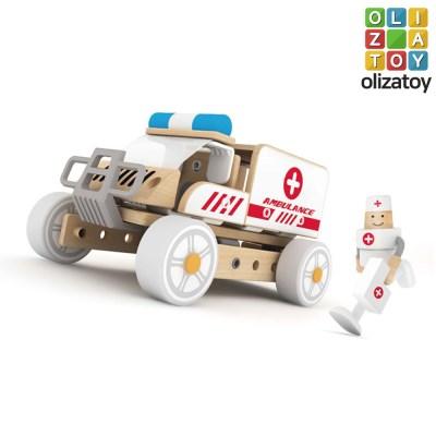 우든 앰뷸런스 변신 자동차 장난감 응급차 만들기 키트