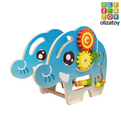 원목 코끼리 엘리펀트 메이즈 구슬 롤러코스터 유아 장난감