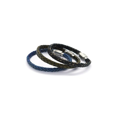 flat leather men Bracelet (3colors)