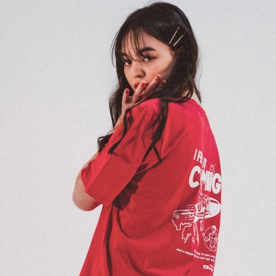 I FEEL IT COMING T-SHIRT_Coral