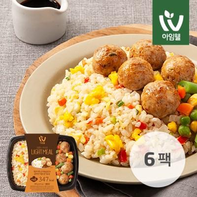 [아임웰] 계란 야채 곤약볶음밥 & 갈비맛 빅볼 닭가슴살 6팩