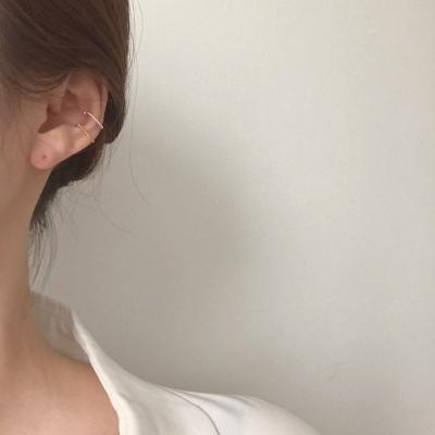 [92.5silver 이어커프 귀걸이] 라인커프 이어링