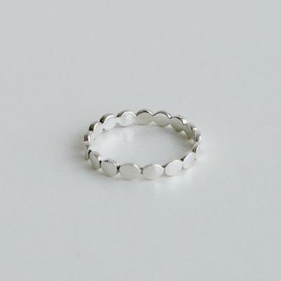 [925실버] 실버 조약돌 반지 silver pebble ring