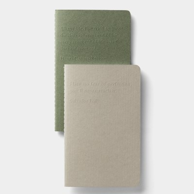 Mini note x 2 - (Gray / Green)