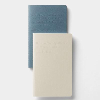 Mini note x 2 - (Blue / Beige)