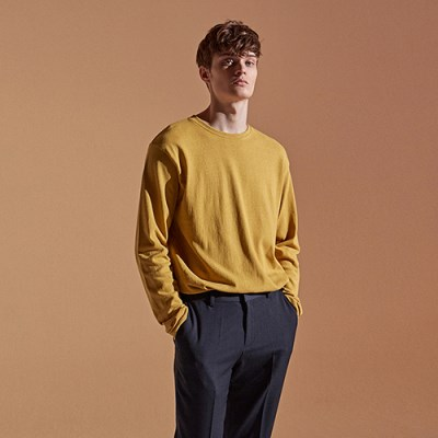 BULKY LONG T-SHIRTS_MUSTARD