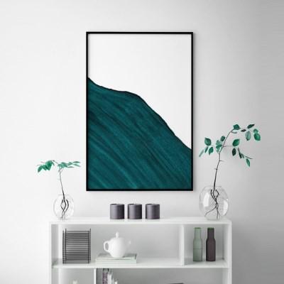 그린웨이브 추상화 인테리어 액자 그림 포스터