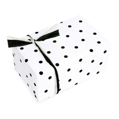 포장지 블랙 폴카도트 (1개)