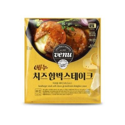 신세계푸드 베누 치즈함박스테이크 390g 2봉 묶음