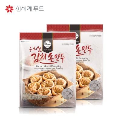신세계푸드 올반 키친 우리밀 김치 손만두 350gx2봉