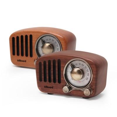 빌보드 블루투스 스피커 / FM라디오 RW-01 (wood/cherry)