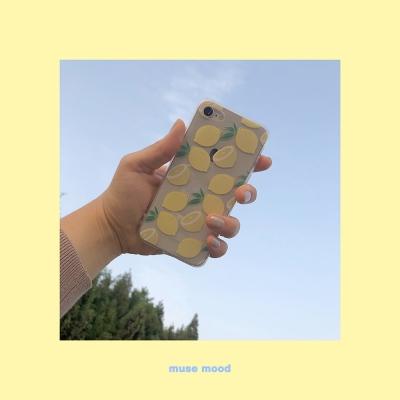 [뮤즈무드] lemon (clear) 아이폰케이스