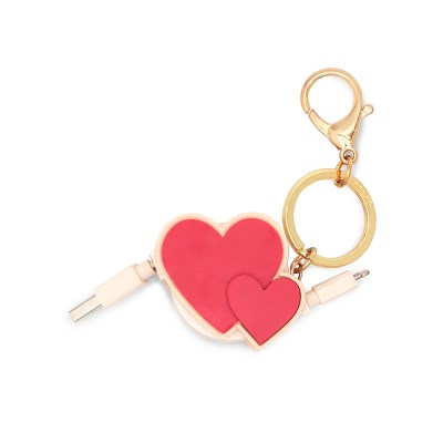 RETRACTABLE CHARGING CORD - HEART TO HEART (아이폰 케이블)