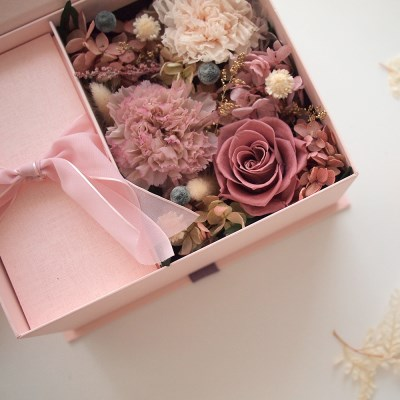 MAUVE CARNATION MONEY BOX