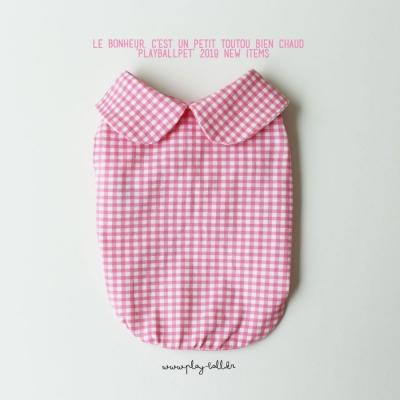 마카롱체크5부티셔츠-핑크