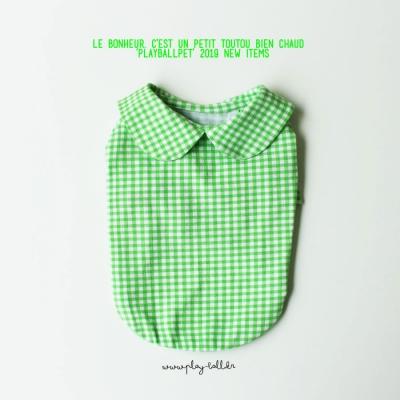 마카롱체크5부티셔츠-연두