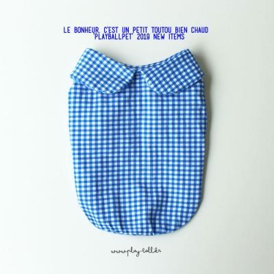 마카롱체크5부티셔츠-블루