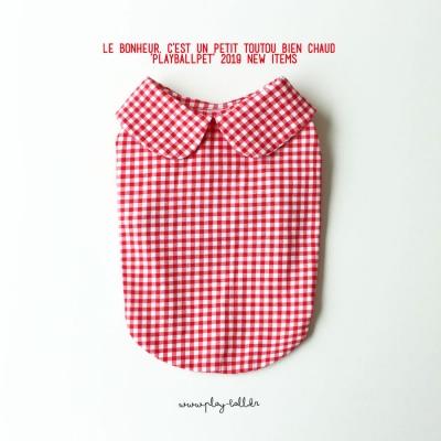 마카롱체크5부티셔츠-레드