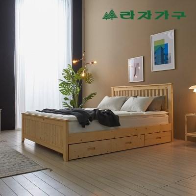 헬린 하단 수납 원목 침대 퀸Q_(1126488)