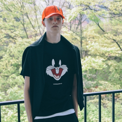 [SS19 Looney Tunes] Bunny Face T-shirts(Black)_(677464)