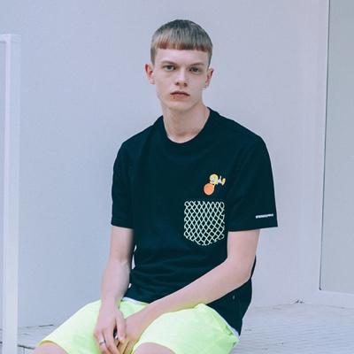[SS19 Looney Tunes] Net Pocket T-Shirts(Black)