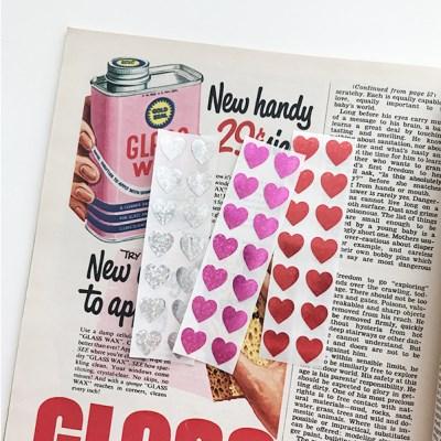 Glitter Mini Heart Sticker (28개)