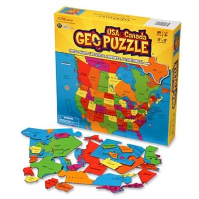 69조각 직소퍼즐 - 미국과 캐나다 지도 (지도퍼즐)