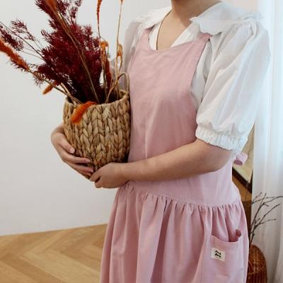 루나 수 면린넨 앞치마 핑크_(2178789)