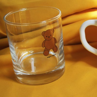 Teddy bear lack glass