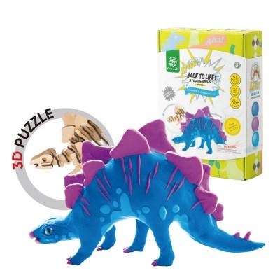 해피플레이 로버드 입체퍼즐 공룡 클레이 스테고사우루스