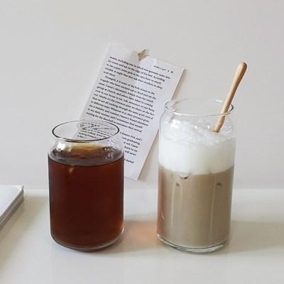 커피프렌즈 캔 유리컵(475ml/590ml) 글라스컵 맥주잔