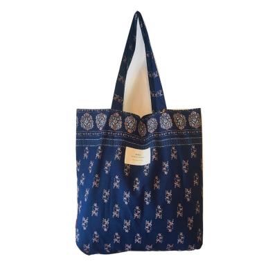 패턴에코백(L)-블루
