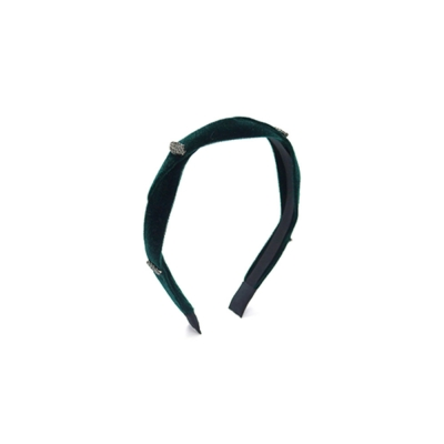 jewel velvet hairband (green)