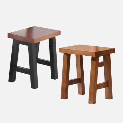 [리코베로] 라가초 소나무원목 스툴 의자 / 식탁의자