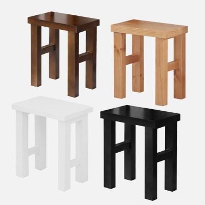 [리코베로] 티아모 소나무원목 다용도 스툴 의자 4가지 색상