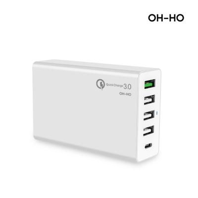 오호 퀵차지 USB 5포트 C타입 PD 멀티충전기_(1079942)