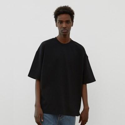 [ASPIVOT] [에스파이벗] 레이지 오버핏 티셔츠black
