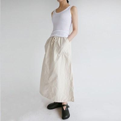 crispy pocket string skirts (3colors)_(1240065)