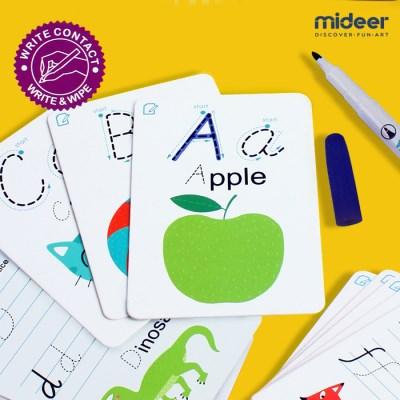 [MIDEER] 미디어 쓰고 지우는 학습카드 알파벳