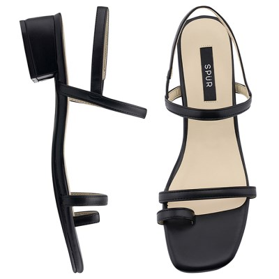 SPUR[스퍼] 샌들 OS9080 Toe ring simply strap 블랙