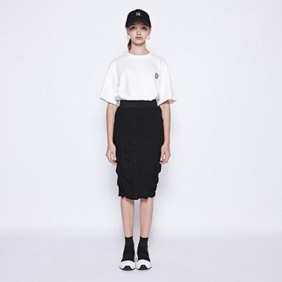 [디바이디그낙] Washing Pleats Midi Skirt BK