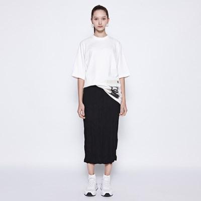 [디바이디그낙] Washing Pleats Long Skirt BK